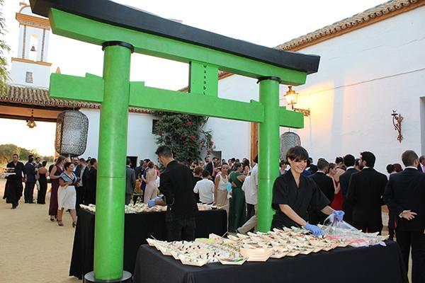 Catering de comida japonesa para bodas y eventos en Sevilla