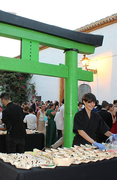 Servicio de catering de comida japonesa en Sevilla