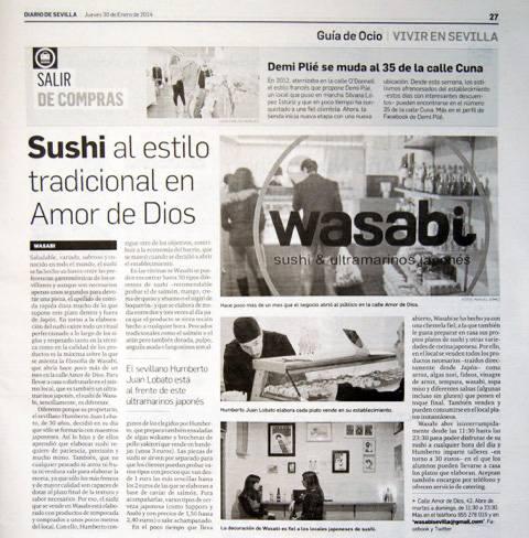 Restaurante japonés de Sevilla en el Diario de Sevilla